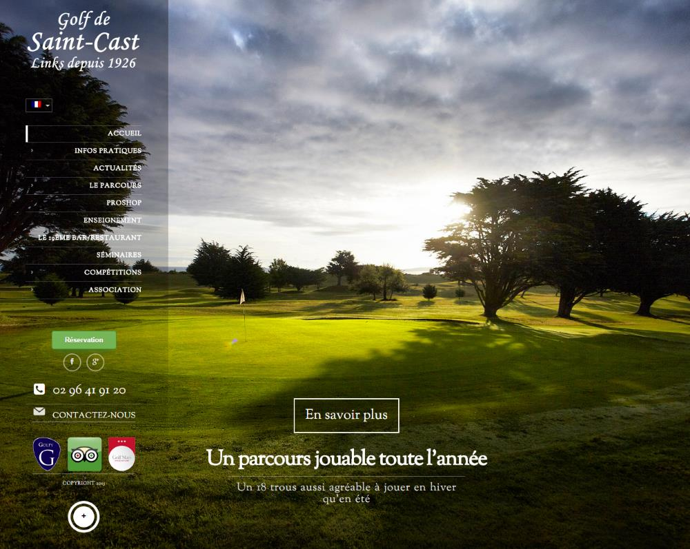 Site web du golf de Saint Cast