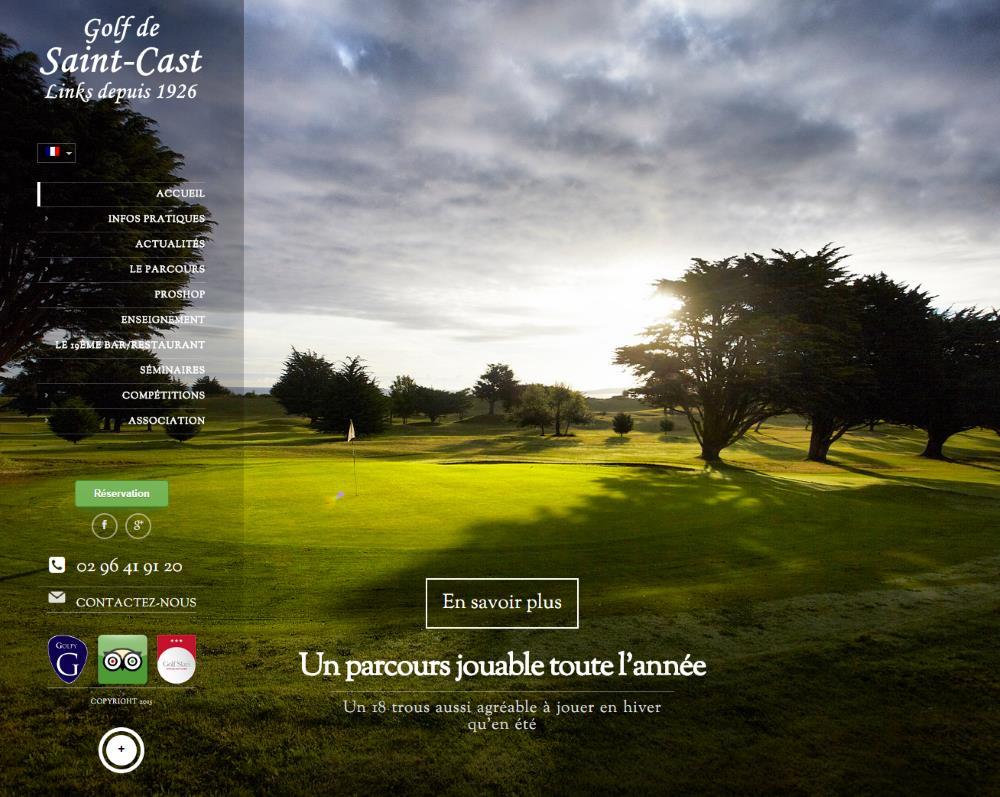 Site web du golf de Saint Cast